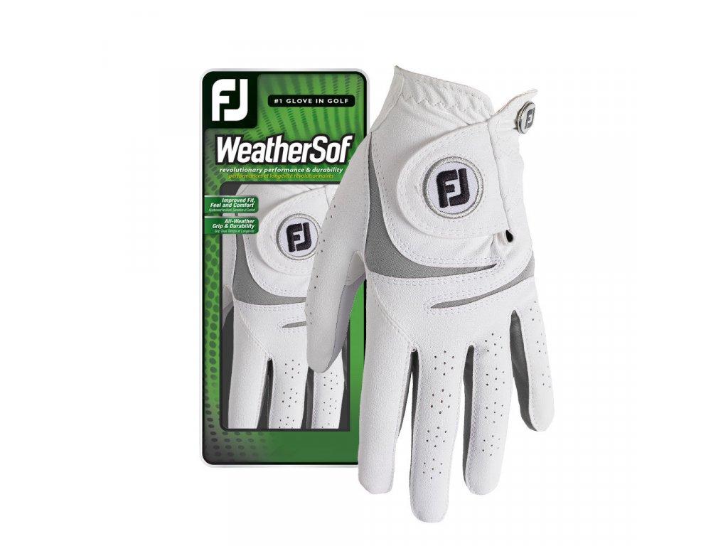 FOOTJOY WeatherSof dámská golfová rukavice na levou ruku bílo-šedá
