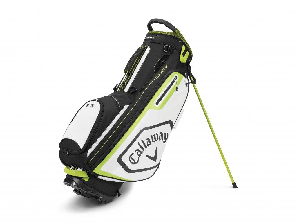 CALLAWAY Chev stand bag černo-bílo-žlutý