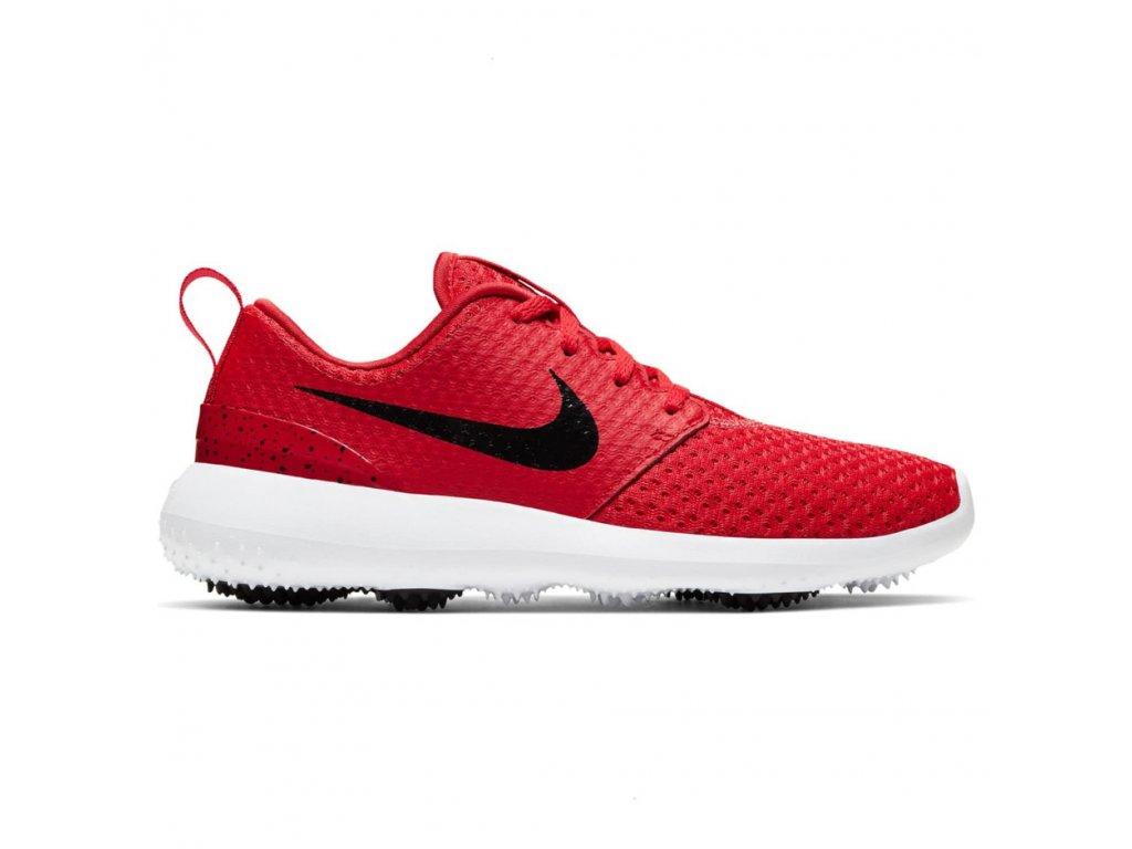 NIKE Roshe G pánské golfové boty červeno-černé