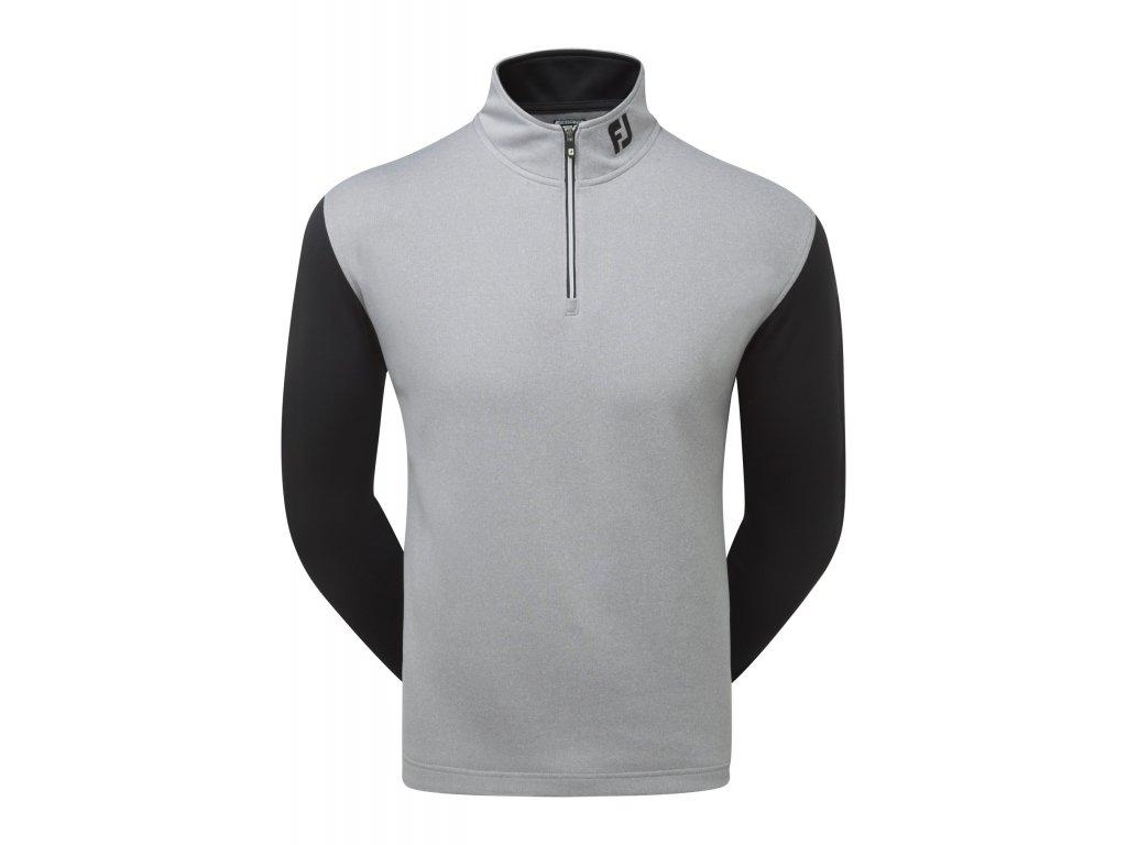 FOOTJOY pánská mikina 1/2 Zip Double Layer Chill Out šedá (Velikost oblečení XXL)