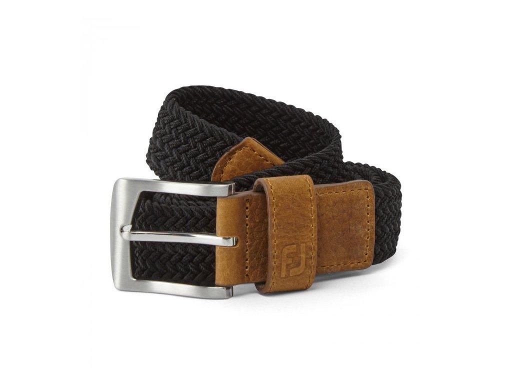 FOOTJOY Braided pánský pásek černý