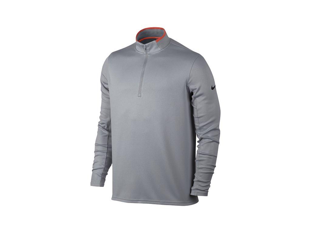 NIKE pánská mikina DRI-FIT 1 2 Zip šedá (Velikost oblečení XL) 2804293488