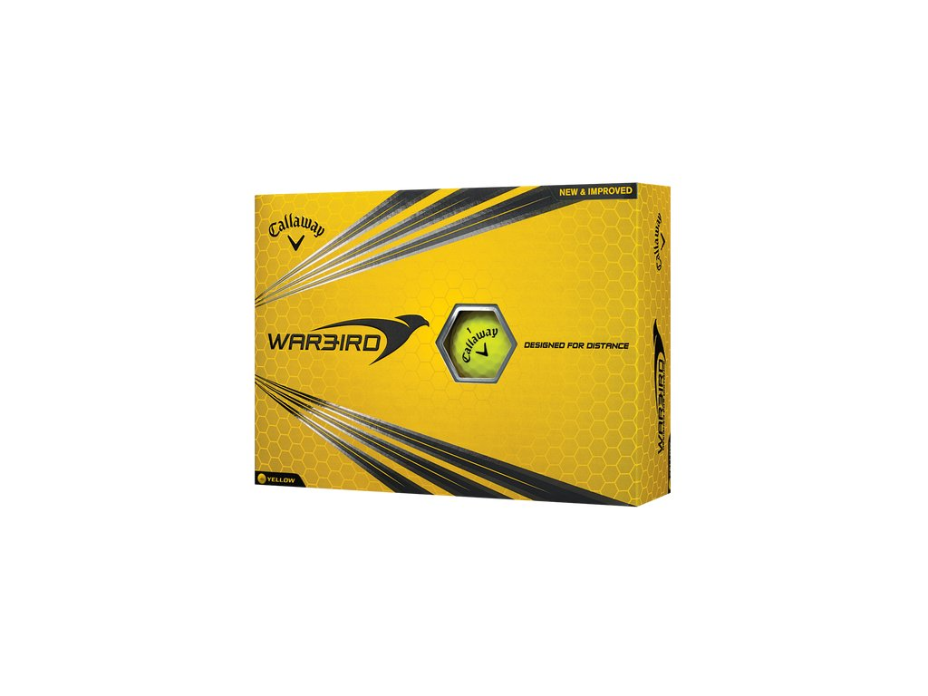 CALLAWAY golfové míčky Warbird žluté (12 ks)