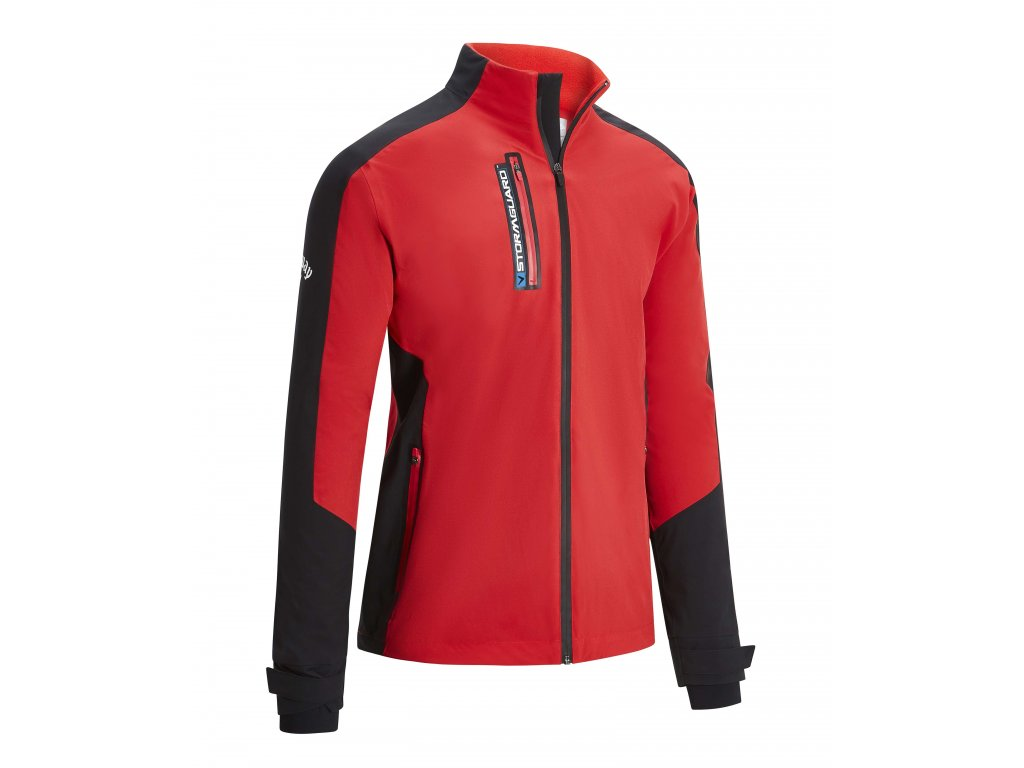 Callaway Stormguard Waterproof pánská bunda červeno-černá zepředu