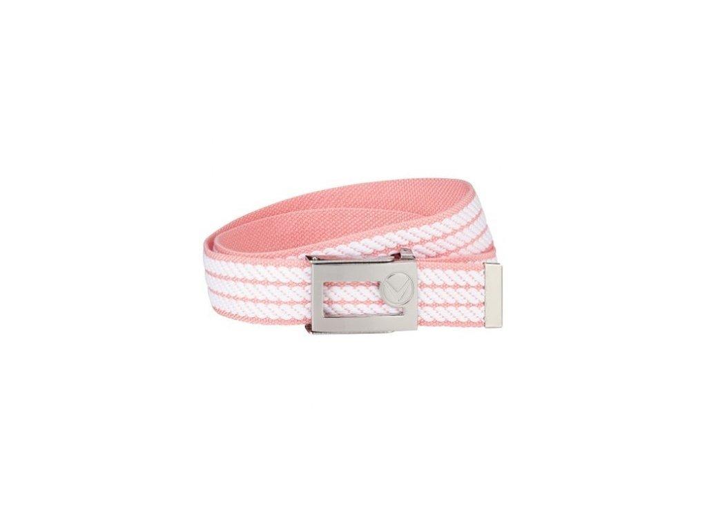 CALLAWAY dámský pásek Webbed Belt růžovo-bílý