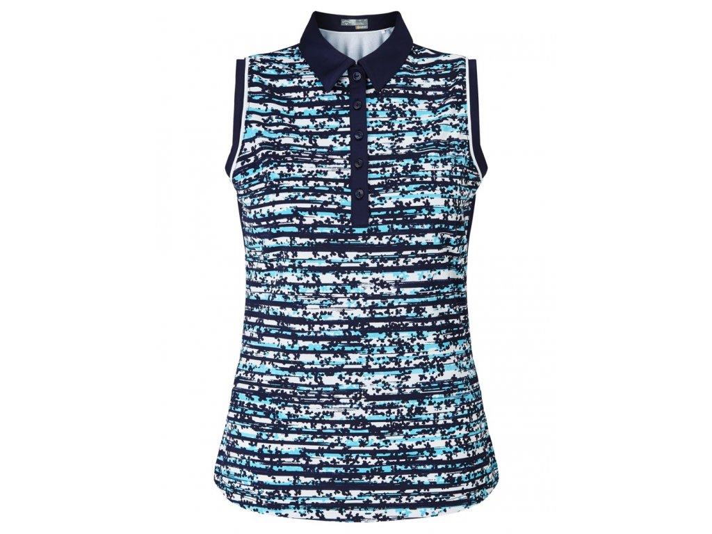 CALLAWAY dámské tričko Floral modré (Velikost oblečení S)