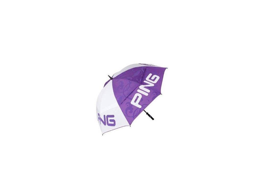 PING deštník dámský bílo-fialový