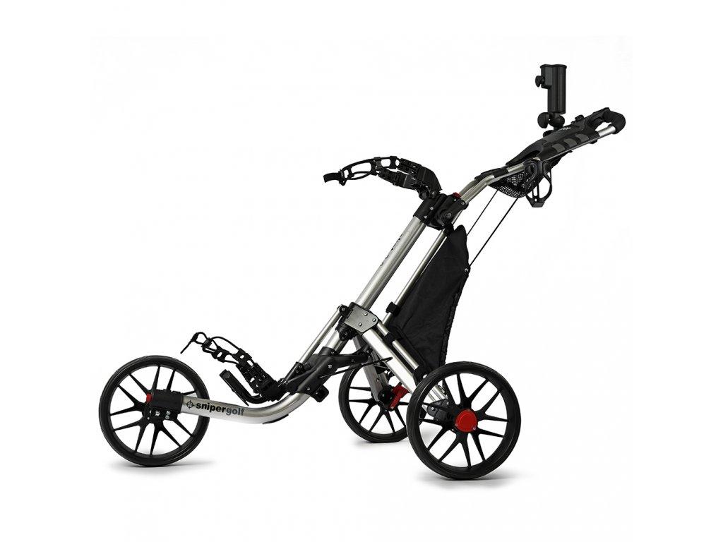 SNIPER Shot 2.0 golfový vozík stříbrný