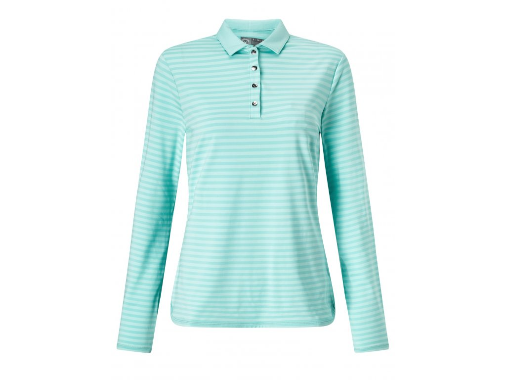 CALLAWAY dámské tričko Long Sleeve Tonal Stripe zelené (Velikost oblečení XS)