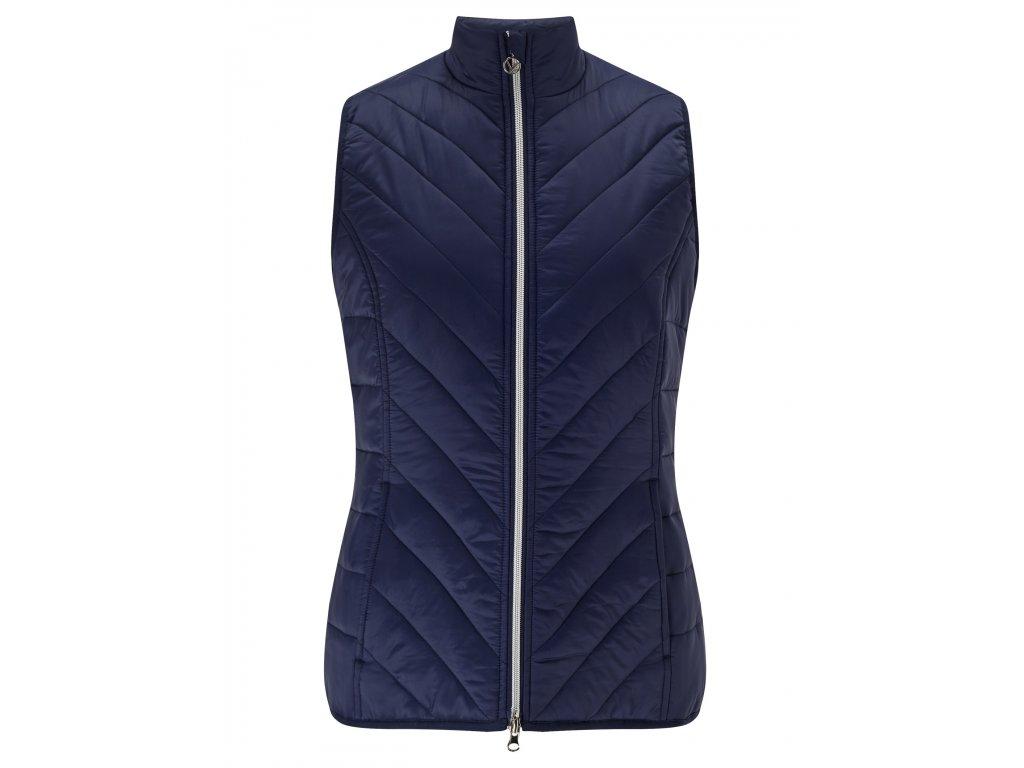 CALLAWAY dámská vesta Puffer modrá (Velikost oblečení XL)