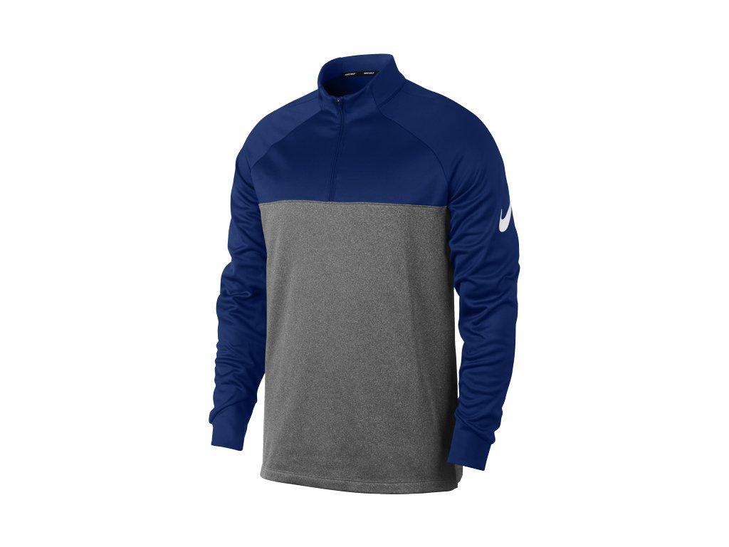 NIKE pánská mikina THERMA-FIT 1 2 Zip modro-šedá (Velikost oblečení db75573f3d