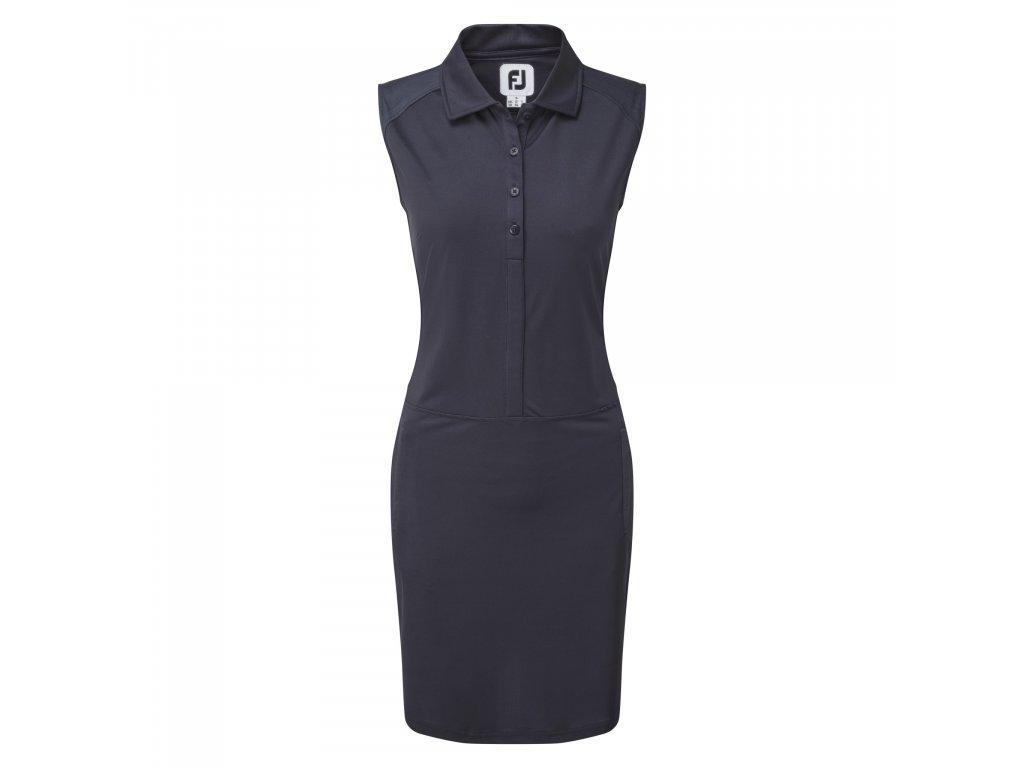 FOOTJOY Cap Sleeve Pique Dress dámské šaty modré