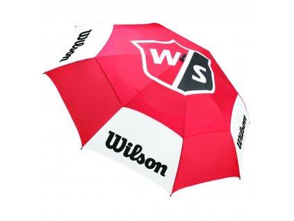 WILSON Tour deštník double canopy červený