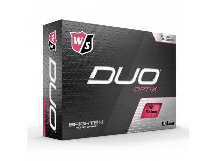 WILSON Duo Optix míčky růžové - 12 ks