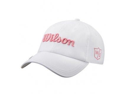 WILSON Pro Tour dámská kšiltovka bílo-růžová