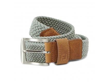 FOOTJOY Braided pánský pásek šedý