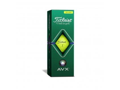 TITLEIST AVX 20 golfové míčky žluté - 3 ks