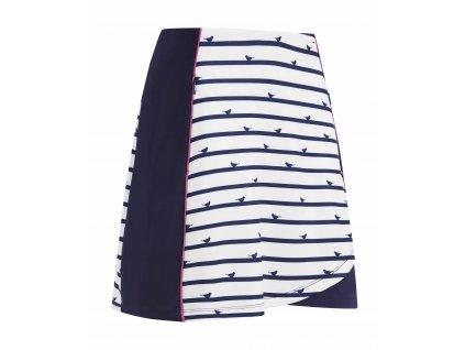 CALLAWAY Birdie Stripe dámská sukně bílo-modrá
