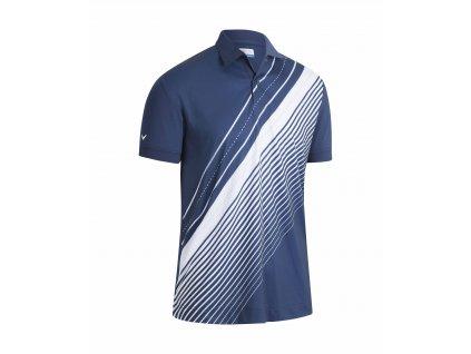 CALLAWAY Track Printed pánské tričko modro-bílé