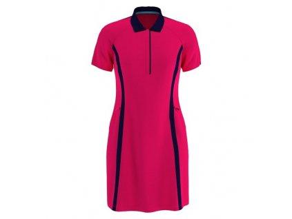 CALLAWAY Colourblock Dress dámské šaty růžové