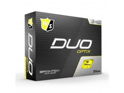 WILSON Duo Optix míčky žluté - 12 ks