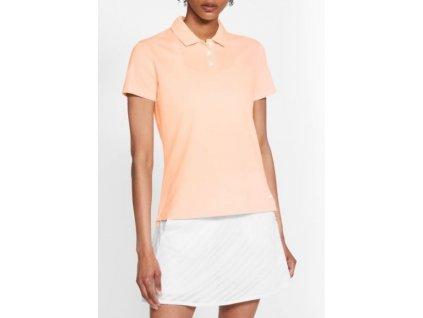 NIKE Dry-Fit Victory Textured dámské tričko lososové