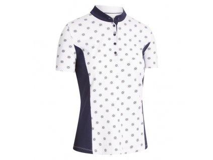 CALLAWAY Chev Floral Print dámské tričko bílé