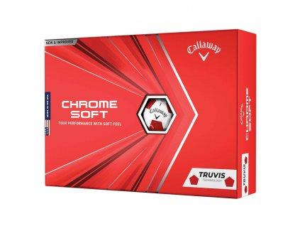 CALLAWAY Chrome Soft 20 Truvis golfové míčky bílo-červené - 12 ks