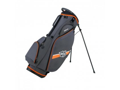 WILSON Staff Lite II stand bag šedo-oranžový