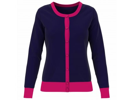 CALLAWAY Colourblock Cardigan dámský svetr modrý