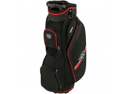 WILSON Staff Lite II cart bag černo-červený