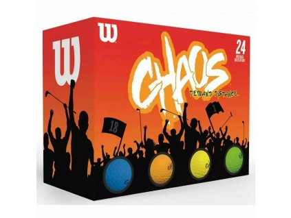 WILSON Chaos multicolor míčky - 12 ks