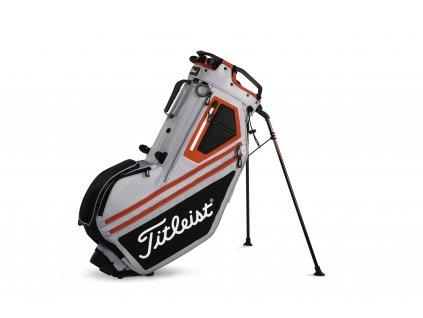 TITLEIST bag na záda Players 14 šedo-černo-červený  + Golfová pravidla