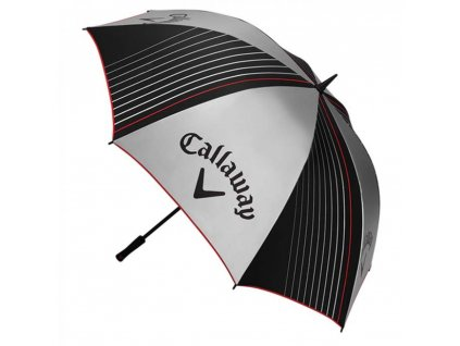 """CALLAWAY deštník 64"""" UV stříbrno-černý  + Malé balení týček 10 ks"""