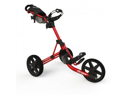CLICGEAR 3.5+ golfový vozík červený  + Ocelová vypichovátka 2 ks