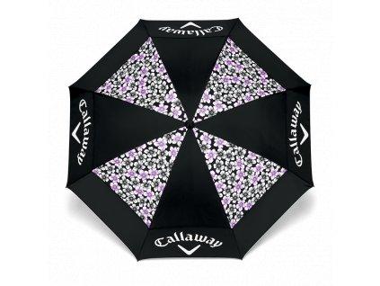 """CALLAWAY dámský deštník 60"""" Uptown 18 černo-fialový"""