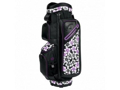 CALLAWAY bag na vozík Org 14 fialovo-černý  + Golfová pravidla