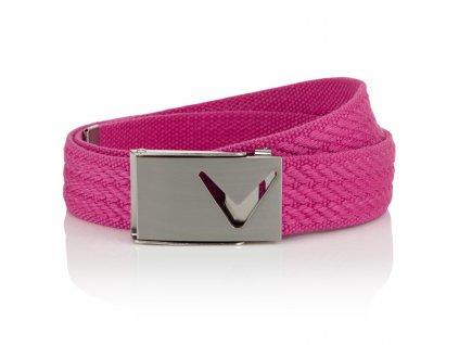 CALLAWAY dámský pásek Webbed Belt Cut-out růžový