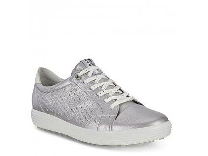 Ecco Casual Hybrid dámské golfové boty stříbrné