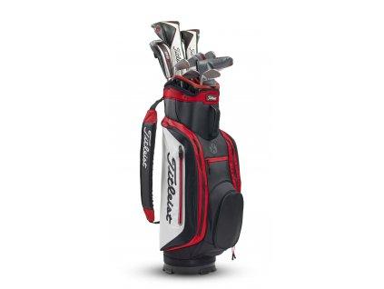 TITLEIST bag na vozík Lightweight 14 černo-bílo-červený  + Golfová pravidla