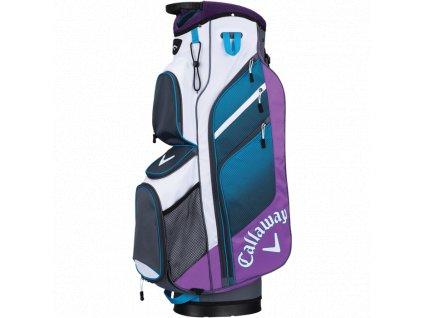 CALLAWAY bag na vozík Chev Org fialovo-bílo-modrý  + Golfová pravidla