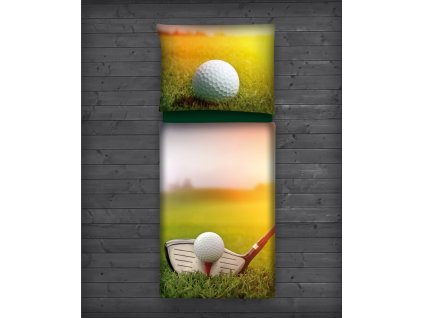Povlečení s golfovým motivem MODERN  + Malé balení týček 10 ks