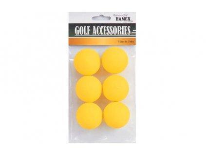 Tréninkové míčky žluté plné pěnové