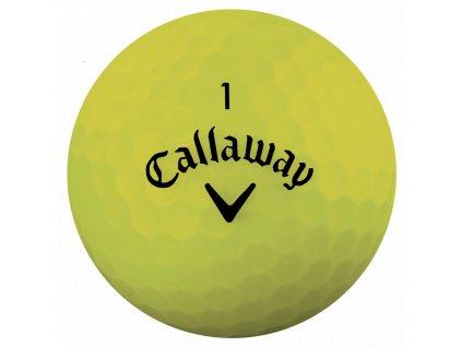CALLAWAY Superhot Bold 18 golfové míčky žluté (1 ks)