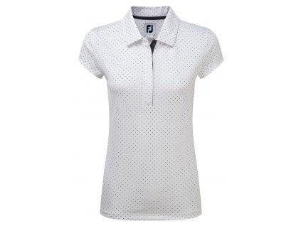 FOOTJOY dámské tričko Pique Cap bílé