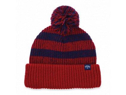 CALLAWAY zimní čepice Pom Pom Beanie červeno-modrá
