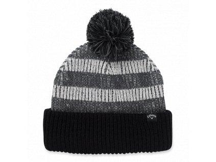 CALLAWAY zimní čepice Pom Pom Beanie černo-šedá
