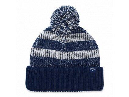 CALLAWAY zimní čepice Pom Pom Beanie modro-šedá