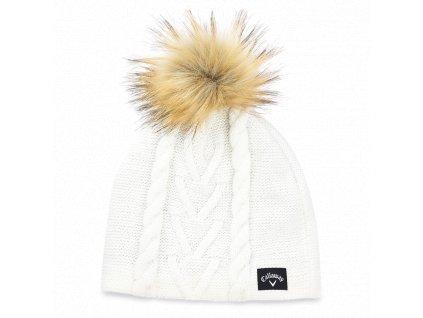 CALLAWAY dámská zimní čepice Pom Pom Beanie bílá