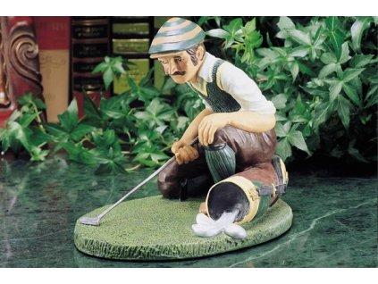 Soška golfisty zaměřujícího putt je vhodný dárek pro vášnivého golfistu. Můžete ho mít doma, v pracovně, v knihovně..